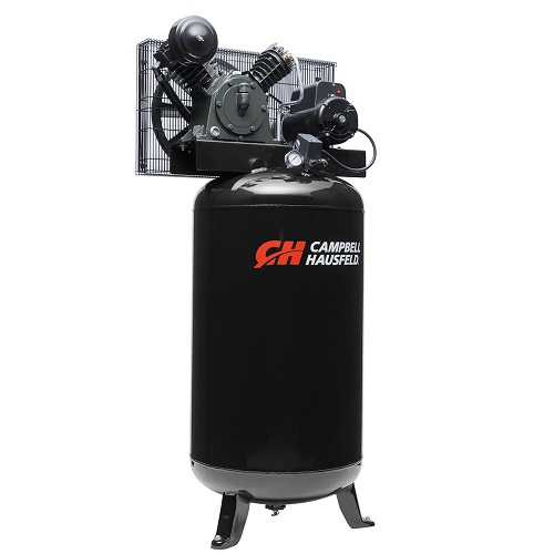 Campbell Hausfeld Air Compressor, 80-Gallon Vertical Two-Stage 14CFM 5.5 HP 208-230V 1PH (CE3000) product image left angle