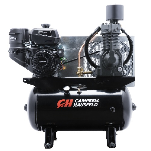 Campbell Hausfeld Air Compressor, 30-Gallon Horizontal Two-Stage 26.1CFM CH440 Kohler (CE7002) product image center