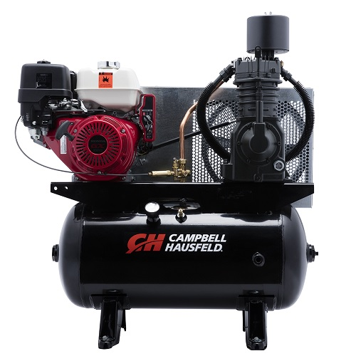 Campbell Hausfeld Air Compressor, 30-Gallon Horizontal Two-Stage 26.1CFM GX390 Honda (CE7003) product image center