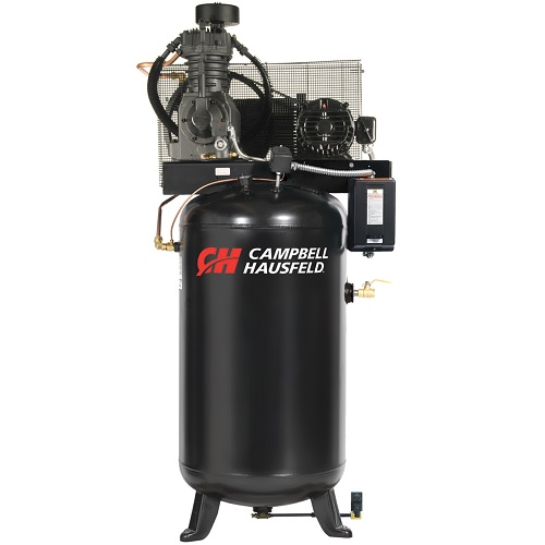 Campbell Hausfeld Air Compressor, 80-Gallon Fully Packaged Vertical Two-Stage 17.2CFM 5HP 208-230V 1PH (CE7050FP) product image center
