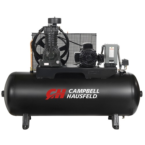 Campbell Hausfeld Air Compressor, 80-Gallon Horizontal Two-Stage 17.2CFM 5HP 208-230V 1PH (CE7052) product image center