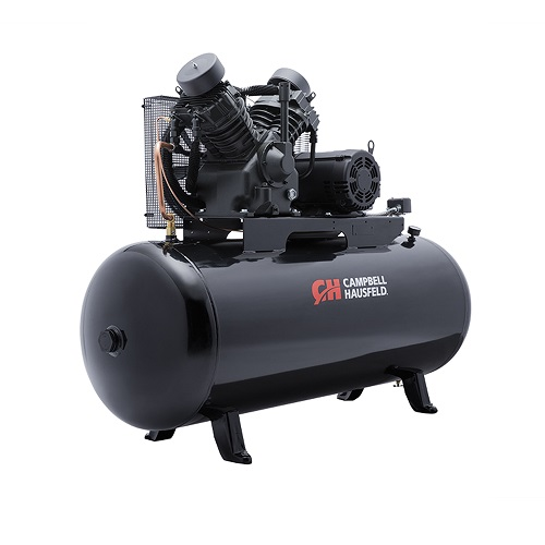 Campbell Hausfeld Air Compressor, 120-Gallon Horizontal Two-Stage 36CFM 10HP 208-230/460V 3PH (CE8001) product image right