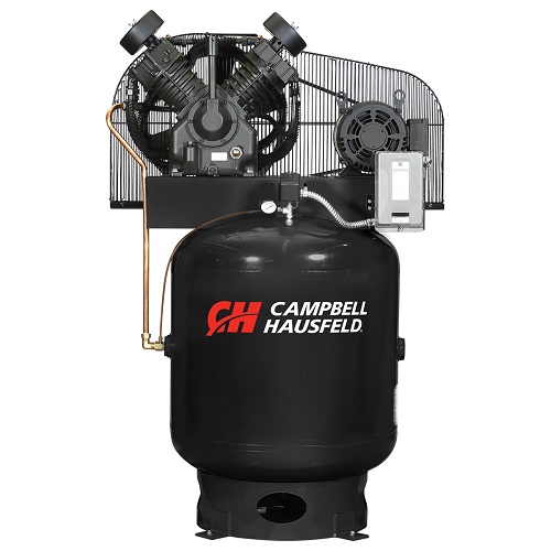 Campbell Hausfeld Air Compressor, 90-Gallon Vertical Two-Stage 36CFM 10HP 208-230/460V 3PH (CE8007) product image center
