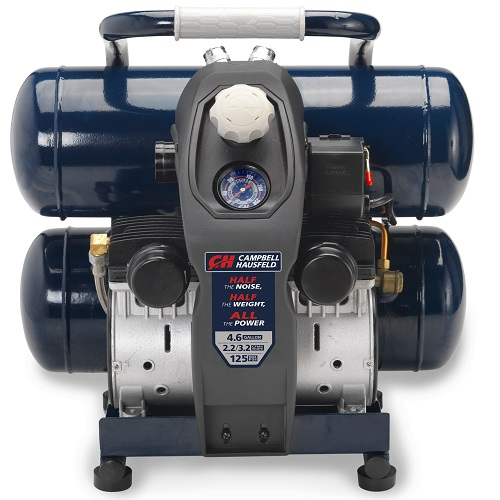 Air Compressor, Lightweight 4.6 Gallon Twinstack, Quiet (DC040500), product image center