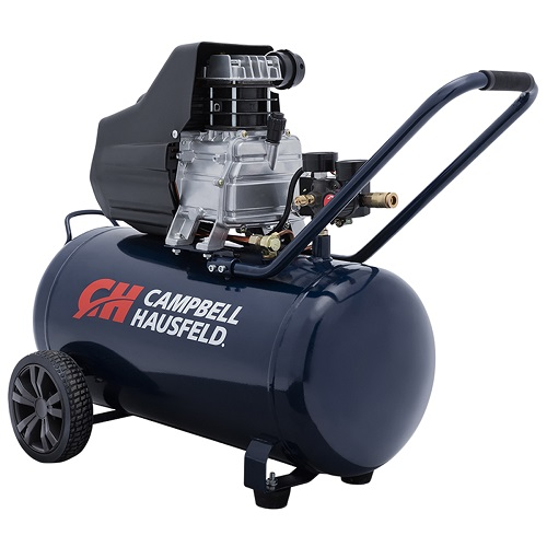 Campbell Hausfeld Air Compressor, 13-Gallon Horizontal Oil-Lubricated 3.8 CFM 1.3HP 120V 10A (DC130000) product image right