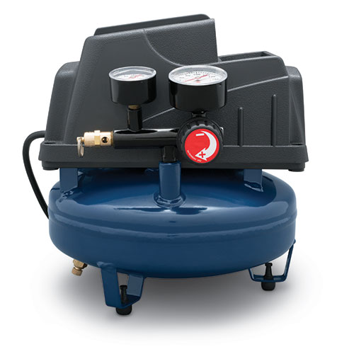 Portable Air Compressor, 1-Gallon Pancake Oilless .36 CFM .33HP 120V 3A (FP2028), product image center