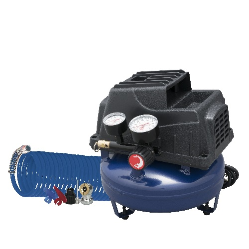 Portable Air Compressor, 1-Gallon Pancake Oilless .36 CFM .33HP 120V 3A (FP2028), main product image