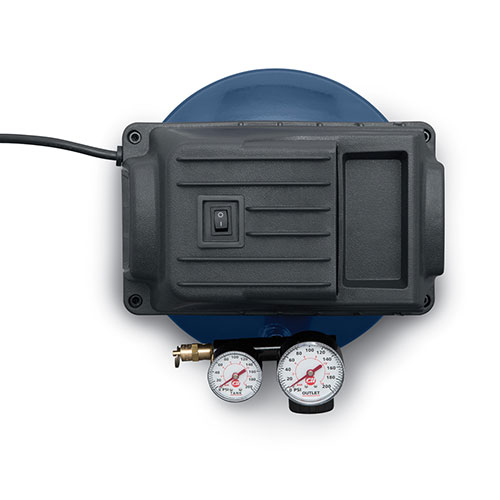 Portable Air Compressor, 1-Gallon Pancake Oilless .36 CFM .33HP 120V 3A (FP2028), product image top