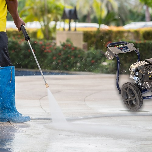 Gas Powered Pressure Washer, 3200 PSI, 2.4 GPM, Axial Pump, Kohler RH265 (PW320200) application shot yard 2