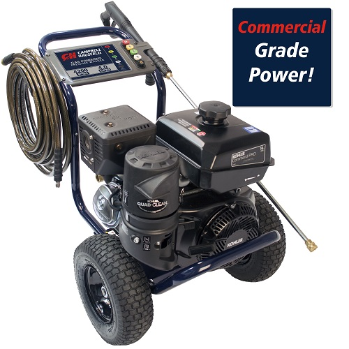 Gas Powered Pressure Washer, 4200 PSI, 4.0 GPM, Tri-plex Pump, Kohler CH440 (PW420400) callout commercial performance