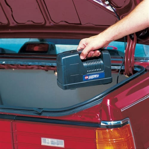 Campbell Hausfeld 12-Volt Inflator (RP1200) product image in truck of car