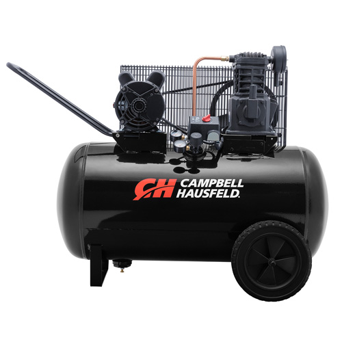 Campbell Hausfeld Air Compressor, 30-Gallon Horizontal Portable Single-Stage 10.2CFM 3.7HP 208-230V 1PH (VT6104) product image center