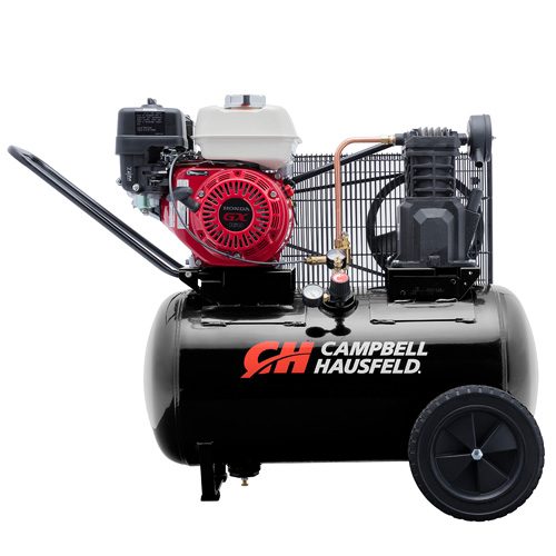 Campbell Hausfeld Air Compressor, 20-Gallon Horizontal Portable Single-Stage 10.2CFM GX160 Honda (VT6171X) product image center
