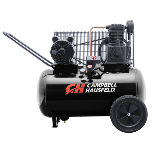 Campbell Hausfeld Air Compressor, 20-Gallon Horizontal Portable Single-Stage 10.2CFM 3.7HP 208-230V 1PH (VT6182) product image center
