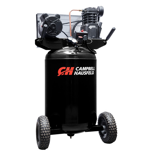 Campbell Hausfeld Air Compressor, 30-Gallon Vertical Portable Single-Stage 5.5CFM 2HP 120/240V 1PH (VT6367) product image left angle