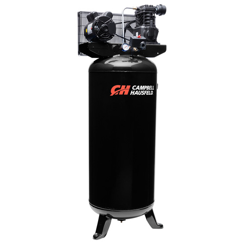 Campbell Hausfeld Air Compressor, 60-Gallon Vertical Single-Stage 10.2CFM 3.7HP 230V 1PH (VT6395) product image left angle