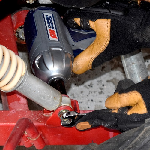 "Get Stuff Done 3/8"" Impact Wrench, Twin Hammer, Campbell Hausfeld, XT001000, car application 3"