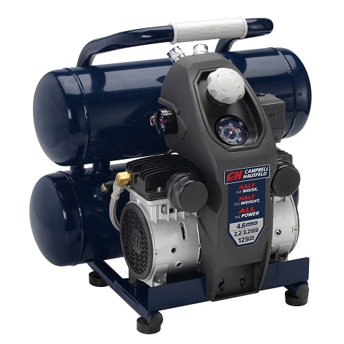 Air Compressor, Lightweight 4.6 Gallon Twinstack, Quiet (DC040500), product image left