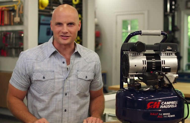 Chip Wade Reviews the Campbell Hausfeld Quiet Air Compressor