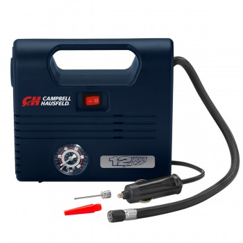 Portable 12 Volt Inflator, 100 PSI, LED Light w/ Nozzles (AF010600)