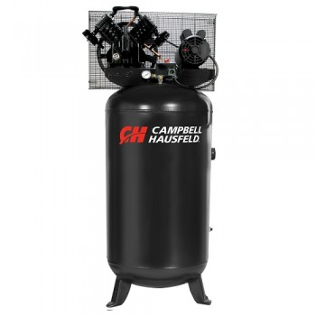 Campbell Hausfeld Air Compressor, 80-Gallon Vertical Single-Stage 16CFM 5HP 208-230V 1PH (CE4104) product image center