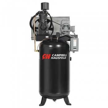 Campbell Hausfeld Air Compressor, 80-Gallon Vertical Two-Stage 25CFM 7.5HP 208-230/460V 3PH (CE7001) product image center