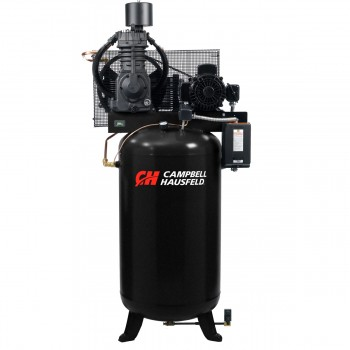 Campbell Hausfeld Air Compressor, 80-Gallon Fully Packaged Vertical Two-Stage 25CFM 7.5HP 208-230/460V 3PH (CE7001FP) product image center