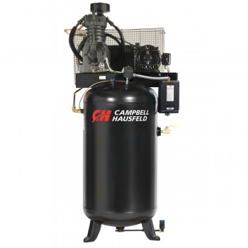 Campbell Hausfeld Air Compressor, 80-Gallon Fully Packaged Vertical Two-Stage 17.2CFM 5HP 208-230/460V 3PH (CE7051FP) product image center