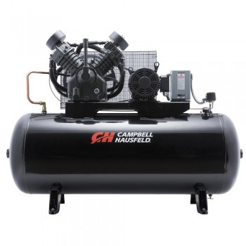 Campbell Hausfeld Air Compressor, 120-Gallon Horizontal Two-Stage 36CFM 10HP 208-230/460V 3PH (CE8001) product image center