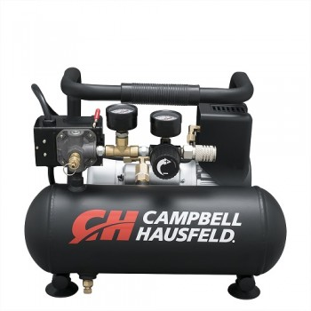 Campbell Hausfeld Air Compressor, 1-Gallon Horizontal Oilless 0.7 CFM 0.5HP 120V 4A (CT100100AV) product image center