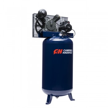 Campbell Hausfeld Air Compressor, 80 Gallon Vertical Two Stage 14CFM 5HP 208-230V 1PH (HS5180) product image left angle