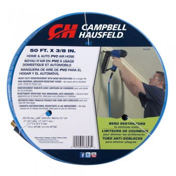 "Campbell Hausfeld 3/8"" x 50' Blue PVC Air Hose (PA121600AV) product image center"