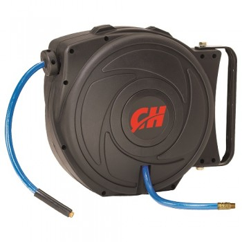 Campbell Hausfeld Retractable Hose Reel with 50 Foot Hose (PA500400AV) product image right angle