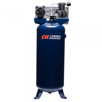 Campbell Hausfeld Air Compressor, 60-Gallon Vertical Single-Stage 10.2CFM 3.7HP 208-230V 1PH (VT6195) product image center