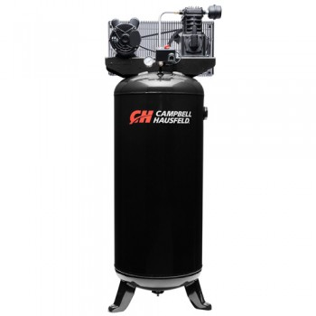 Campbell Hausfeld Air Compressor, 60-Gallon Vertical Single-Stage 10.2CFM 3.7HP 208-230V 1PH (VT6395) product image center