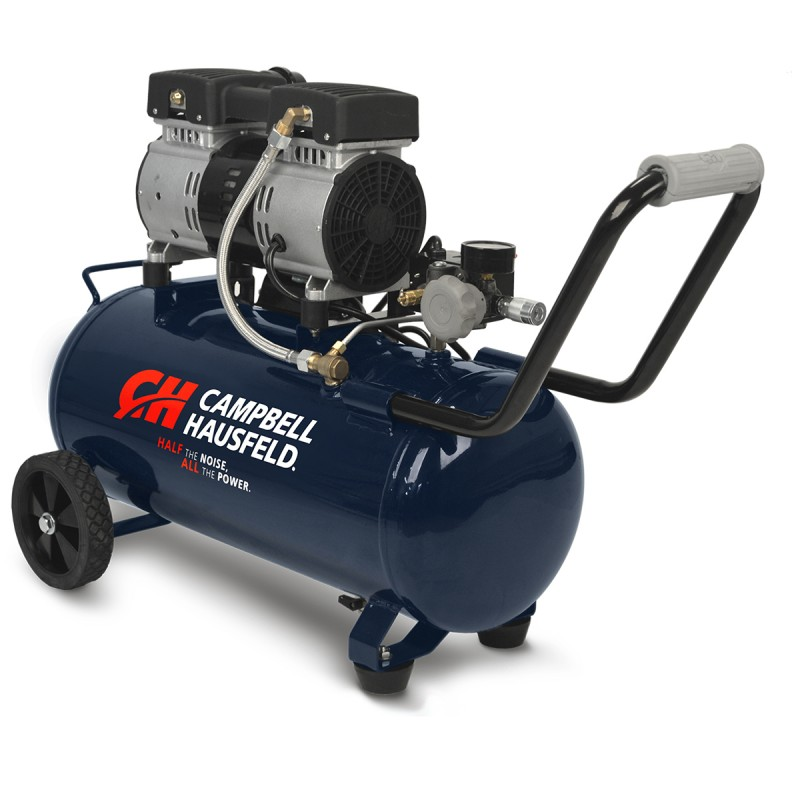 Campbell Hausfeld Air Compressor, 8-Gallon, Horizontal, Quiet (DC080500) product image left angle