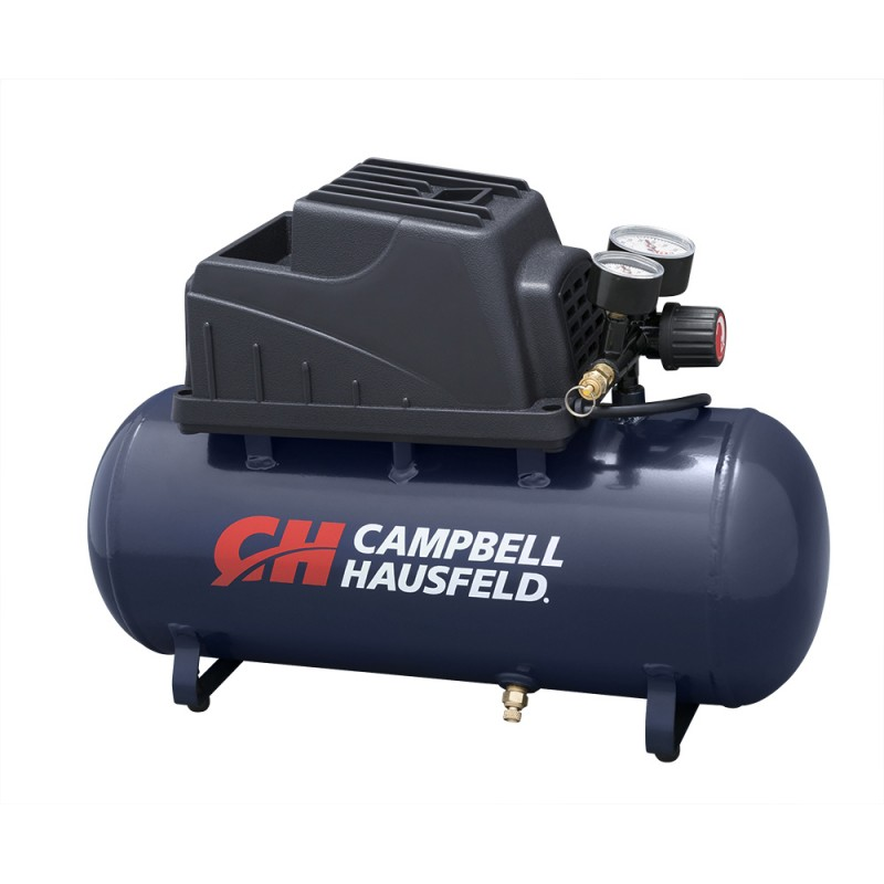 Campbell Hausfeld Air Compressor, 3-Gallon Horizontal Oilless with 10 Piece Kit .36 CFM .33HP 120V 3A (FP209499AV) product image left