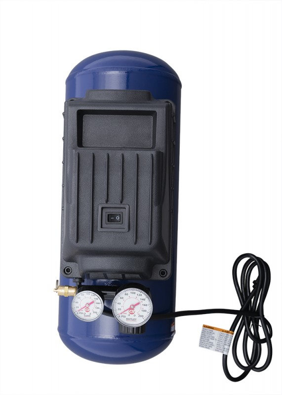 Air Compressor, 3-Gallon Horizontal Oilless with 10 Piece Kit .36 CFM .33HP 120V 3A (FP209499AV)