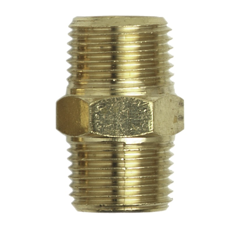 "Campbell Hausfeld Hex Nipple, 3/8"" Male NPT (MP213600AV) product image center"